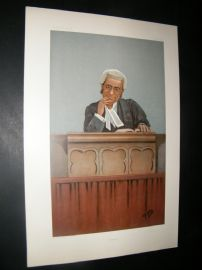Vanity Fair Print 1900 Justice George Farwell, Legal Judge